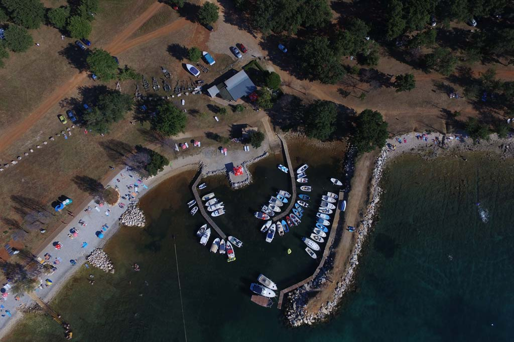 Aquarius mini marina Porec from air